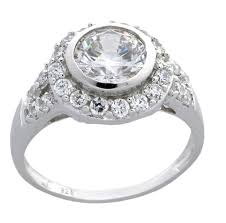 Wedding Rings For Her by Luxurious 2 Carat Bezel Set Engagement Ring For Her Jeenjewels
