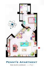 Livia Condo Floor Plan 12 Best Floor Plans Of Famous Tv Apartments Images On Pinterest