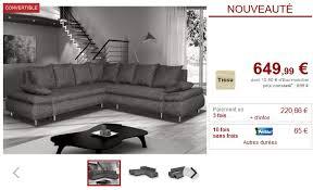 venteunique com canapé canapé d angle xl convertible symétrique felton tissu gris convertible