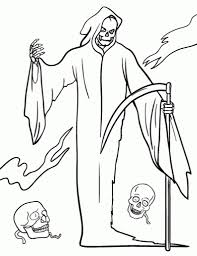 Creepy Halloween Coloring Pages by Grim Reaper Coloring Pages For Inspire Cool Coloring Pages And