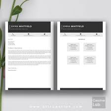 Resume Templates For Word Mac Creative Resume Template Modern Cv Word Cover Lette Saneme