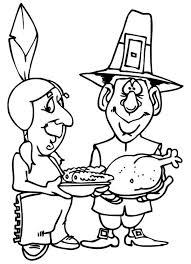 food on thanksgiving day celebration coloring page