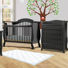 Stork Craft 4 In 1 Convertible Crib by Storkcraft Valentia 2 Piece Nursery Set Convertible Crib And