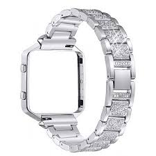 rhinestone bands for fitbit blaze bands bayite metal bands with