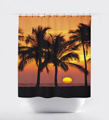 Ocean Bathroom Decor by Sunset Curtains Bed And Bath Shower Curtains Bathroom Curtain