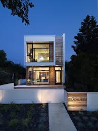long narrow house exterior modern with walkway contemporary