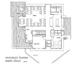 common house floor plans floor plans and exterior view of the common house common house