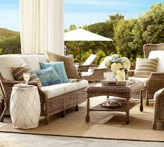 Wicker Patio Furniture Sets by Calm Outdoor Spot With Wicker Patio Furniture Set Also Decorative