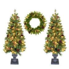 pre lit trees artificial trees the home depot