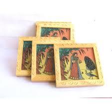 home decor handicrafts wooden coaster 6 pcs set 3 x3 online shopping india buy