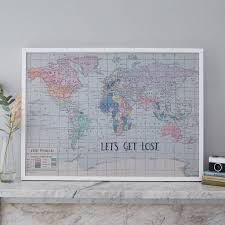 World Map Fabric by Lets Get Lost U0027 Fabric World Map Noticeboard By The Crafty