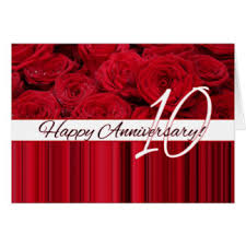 a happy 10th wedding anniversary rose gifts on zazzle