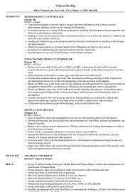 product controller resume samples velvet jobs