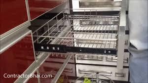 Indian Open Kitchen Designs Indian Kitchen Trolley Design
