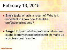 How To Build A Resume Building A Resume Ppt Download