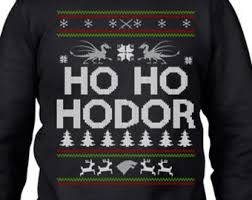 ugly christmas sweater party game of thrones hodor by apparelareus