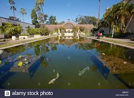 Balboa Park Botanical Gardens by Balboa Park San Diego Pond Building Travel Water San Diego Stock