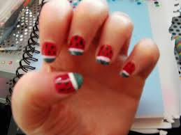 really easy watermelon nails how to paint a fruity nail nail