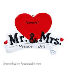 buy wedding ornament mr and mrs big ornament