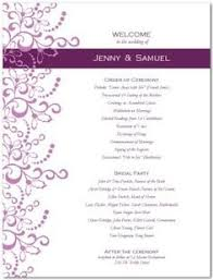 one page wedding program template best template idea