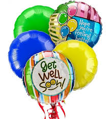 mylar balloon bouquets get well balloon bouquet 5 mylar balloons an uplifting