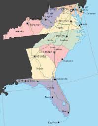map usa southeast usa southeast