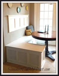 Kitchen Nook Design by 7hay Breakfast Nook With Bench Booth Grey Accent Wall Modern
