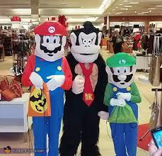Mario Luigi Halloween Costume Mario Luigi Donkey Kong Group Halloween Costume