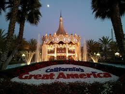 Great America Map Santa Clara by Great America Parks California Coaster Kings