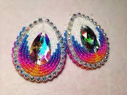 beaded earrings native american beads earrings native beads