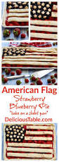 Pan American Flag American Flag Strawberry Blueberry Pie