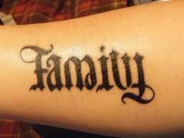 black ink family ambigram
