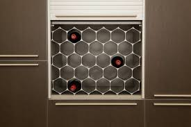 a smart sustainable wine rack that takes design cues from bees