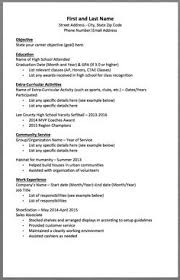 Resume For A Teenager First Job by First Resume Template For Teenagers Teen Resume Sample For 15