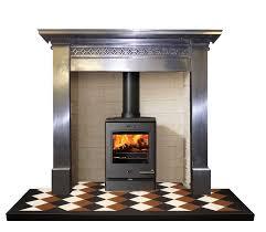 antique 1920 1930 burnished cast iron fireplace surround