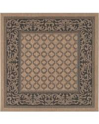 Square Indoor Outdoor Rugs Deal Alert Couristan Recife Garden Lattice 8 6 Square Indoor