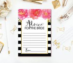 Advice Cards For Bride Free Bridal Shower Games Gold And Pink Bridal Shower Game