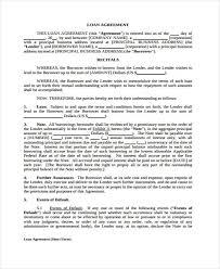 loan agreement legal personal loan agreement form free loan