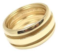 wide wedding bands co vintage atlas groove 18k gold wide wedding band