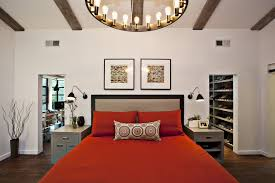 closet behind bed closet behind bed with timber frame bedroom contemporary and