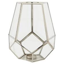 silver tea light holders buy tesco large silver pentagonal tea light holder from our candle