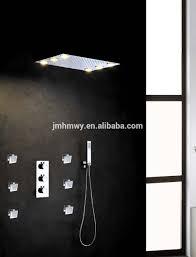 recessed ceiling led shower set 360 500mm rainfall led bathroom