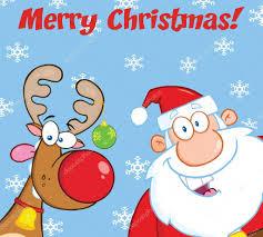 imagenes de santa claus feliz navidad saludo feliz navidad con renos y santa claus fotos de stock