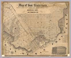 san francisco on map of san francisco britton 1852