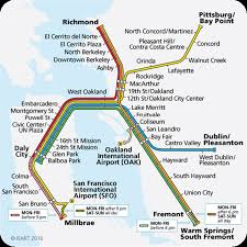 Sf Bart Map Getting To Berkeley Call2017