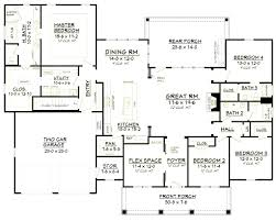 bedroom ranch house plans ideas with 4 open floor plan pictures
