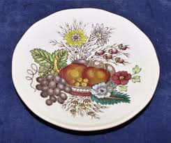 spode copeland salad plate fruit and flowers