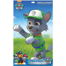 paw patrol rocky froomies foam wall decor walmart