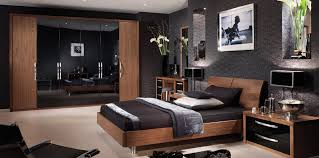 gloss black and walnut bedroom furniture home attractive