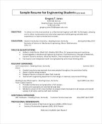 Sample Of Resume For Mechanical Engineer by 54 Engineering Resume Templates Free U0026 Premium Templates